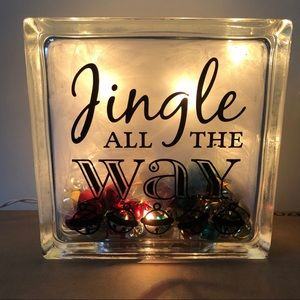 Other - Jingle All The Way Glass Light Up Decoration